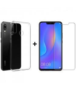 Чехол + Стекло Huawei Nova 3 (Комплект)