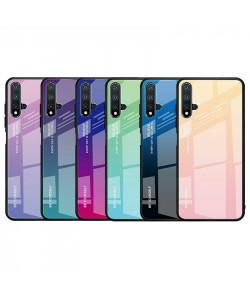 Чехол Huawei Nova 5T градиент TPU+Glass