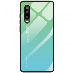 Чехол OnePlus Чехол Huawei P30 градиент TPU+Glassградиент TPU+Glass