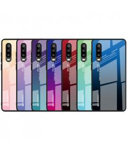 Чехол Huawei P30 градиент TPU+Glass