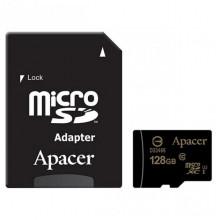 Карта памяти 128 Gb MicroSD Apacer Class 10 + Адаптер
