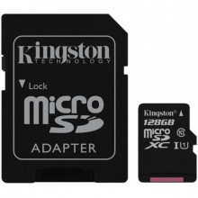 Карта памяти 128 Gb MicroSD Kingston Class 10 + Адаптер