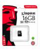 Карта памяти 16 Gb microSD Kingston UHS-I Canvas Select (R-80MB/s) (SDCS/16GBSP) (без адаптера)