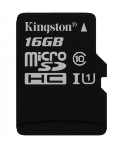 Карта памяти 16 Gb MicroSD Kingston Class 10