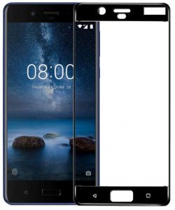 3D Защитное Стекло Nokia 8 – Full Glue (С полным клеем)
