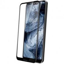 3D Защитное Стекло Nokia X6 / 6.1 Plus – Full Glue (С полным клеем)