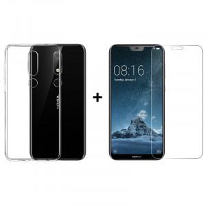 Чехол + Стекло Nokia X6 / 6.1 Plus (Комплект)