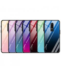 Чехол OnePlus 6T градиент TPU+Glass