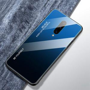Чехол OnePlus 7 Pro градиент TPU+Glass