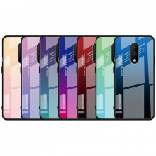 Чехол OnePlus 7 градиент TPU+Glass