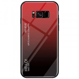 Чехол Samsung Galaxy S8 градиент TPU+Glass