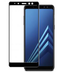 Стекло Samsung A8 2018 – Full Glue (Клей по всей поверхности)