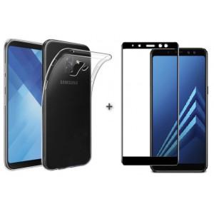 Чехол + 3D Стекло Samsung A8 2018 – Комплект