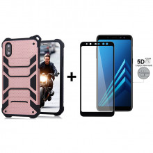 Чехол + 5D Стекло Samsung A8 2018 (Комплект)