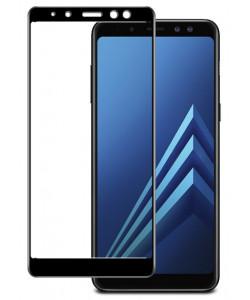 Стекло Samsung A8+ 2018 – Full Glue (Клей по всей поверхности)