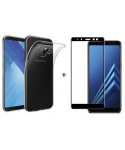 Чехол + 3D Стекло Samsung A8+ 2018 – Комплект