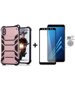 Чехол + 5D Стекло Samsung A8+ 2018 (Комплект)