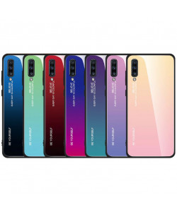 Чехол Samsung Galaxy A50s градиент TPU+Glass