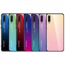 Чехол Samsung Galaxy A70 градиент TPU+Glass