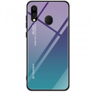 Чехол Samsung Galaxy M20 градиент TPU+Glass