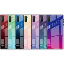 Чехол Samsung Galaxy Note 10 градиент TPU+Glass