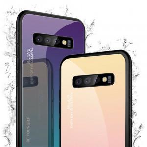 Чехол Samsung Galaxy S10+ градиент TPU+Glass