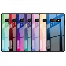 Чехол Samsung Galaxy S10 градиент TPU+Glass