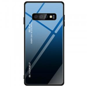 Чехол Samsung Galaxy S10e градиент TPU+Glass