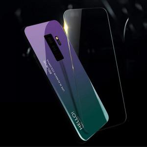 Чехол Samsung Galaxy S9 Plus градиент TPU+Glass