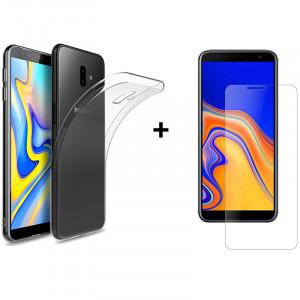 Чехол + Стекло Samsung J6 Plus 2018 (Комплект)