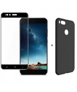 Бампер + 3D Стекло Xiaomi Mi A1 – Black (Комплект)