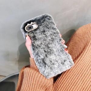 Чехол Xiaomi Mi 8 Lite силиконовый Fuzzy с Мехом