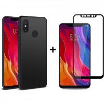 Бампер + 3D Стекло Xiaomi Mi 8 – Black (Комплект)