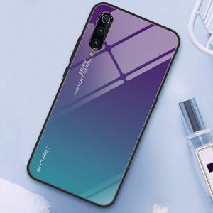 Чехол Xiaomi Mi 9 градиент TPU+Glass