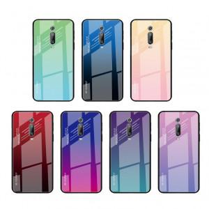 Чехол Xiaomi Mi 9T  градиент TPU+Glass