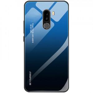 Чехол Xiaomi Pocophone F1 градиент TPU+Glass