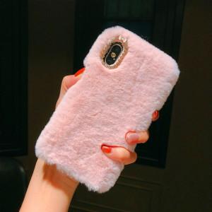 Чехол Xiaomi Redmi Note 6 Pro силиконовый Fuzzy с Мехом