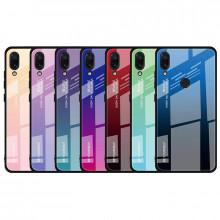 Чехол Xiaomi Redmi 7 градиент TPU+Glass