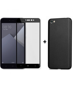Бампер + 3D стекло Xiaomi Redmi Note 5A – Black (Комплект)
