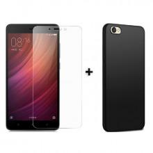 Чехол + Стекло Xiaomi Redmi Note 5A (Black)