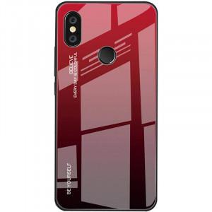 Чехол Xiaomi Redmi Note 6 Pro градиент TPU+Glass