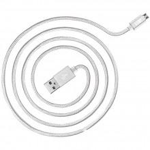 USB Кабель Micro USB Тканевый – 1,5 м (Белый)
