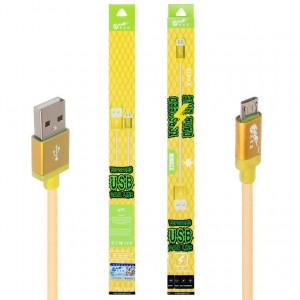 USB Кабель Micro USB King Fire XY-019 – 0,2 м (Золотистый)