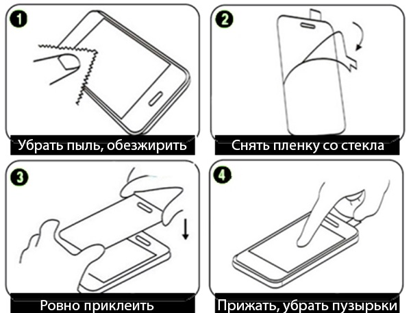 Инструкция по наклейке стекла на экран